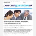 Wilmslow PG is now Personal Guarantees UK